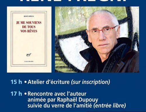 Rencontre littéraire avec René Frégni