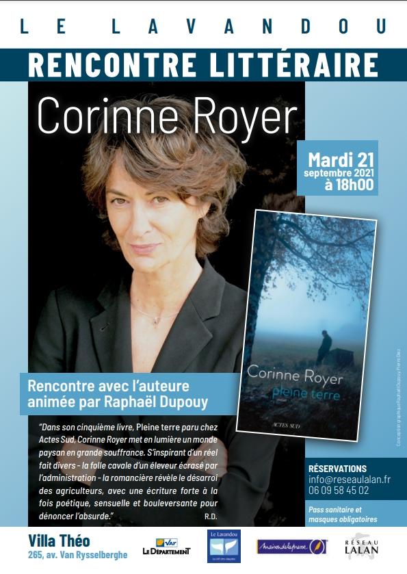 Corinne Royer à la Villa Théo